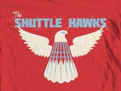 Dribbble - Shuttlehawks by Mike Greenwell #shuttle #red #white #hawks #blue
