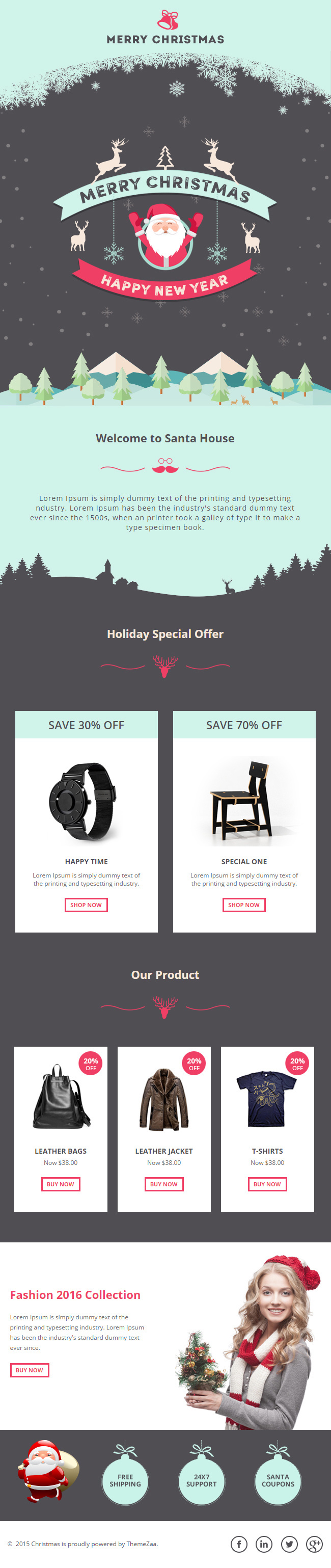 Best Responsive Email Templates Christmas Template images on ...