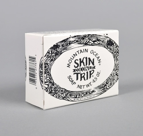 SKIN TRIP COCONUT BAR SOAP :: HICKOREE'S HARD GOODS #packaging #serif #drawn #type #decorative #hand