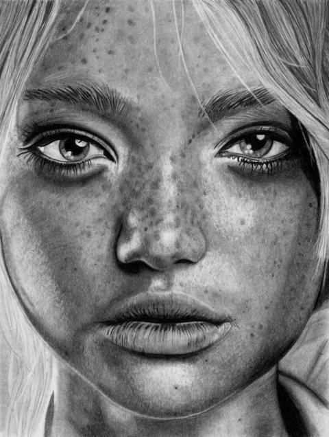 Paul Shanghai | PICDIT #white #black #portrait #art #drawing