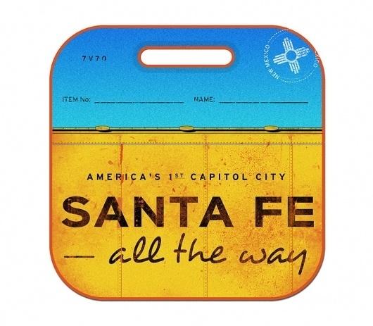 Santa Fe - The Everywhere Project #americana #badge #santa #trains #mexico #cash #travel #johnny #fe #type #new
