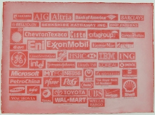 A.J. Bocchino | Artwork | Forbes 2000 (red profits) #bocchino #aj #art #capitalism #logo