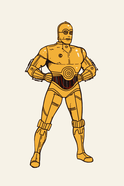 C3PO - The Art Of Mike Mitchell #illustration #star wars #mike mitchell