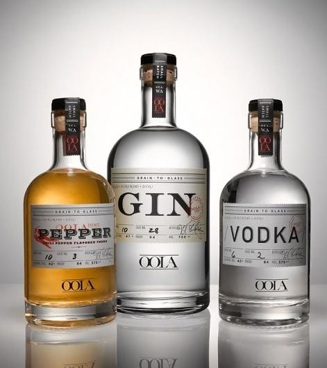 Brian Piper / Oola Distillery #logotype #bottle #packaging #design #type