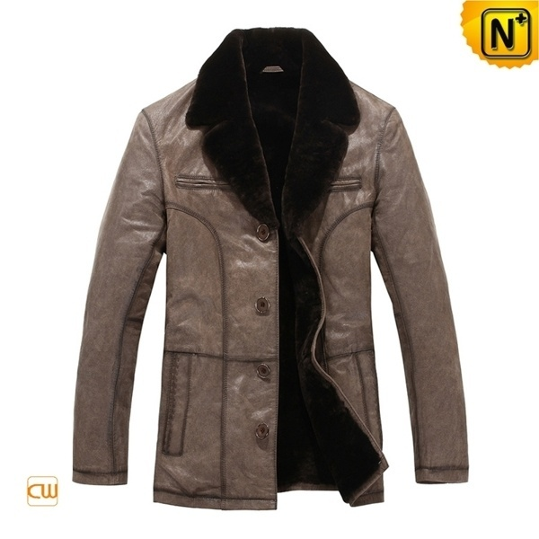 Shearling Fur Lined Coat CW819405 #fahion