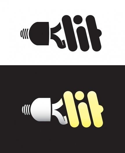 LIT - Logos - Creattica #logo #light #typography