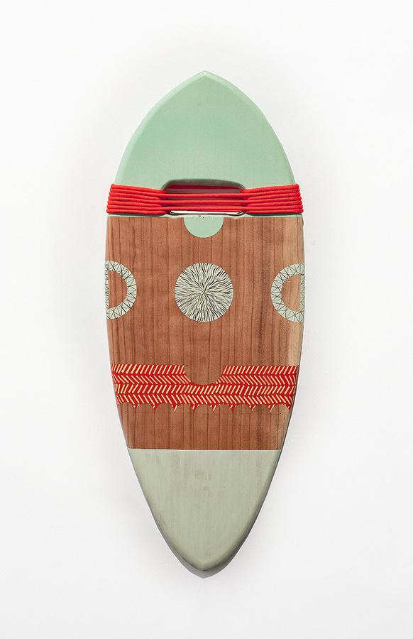 Three Dimensional MonoBrow #pattern #surfing #rope #wood #handplanes