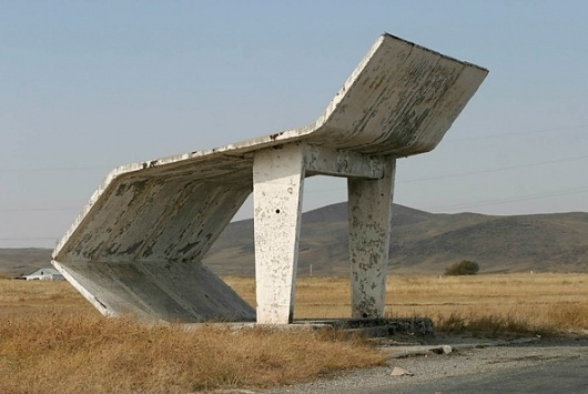 It's Nice That : Soviet bus stops captured by worldly photographer Christopher Herwig #bus #crhistopher #soviet #photography #stop #herwig