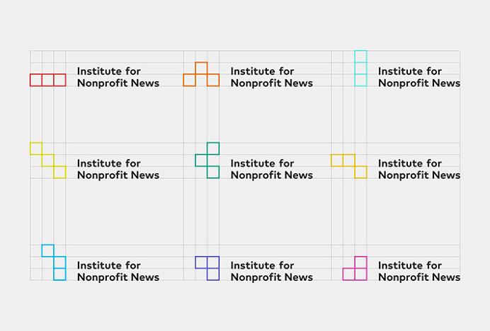 Institute for Nonprofit News by Studio Anthony Lane #logo #mark #logotype #typography
