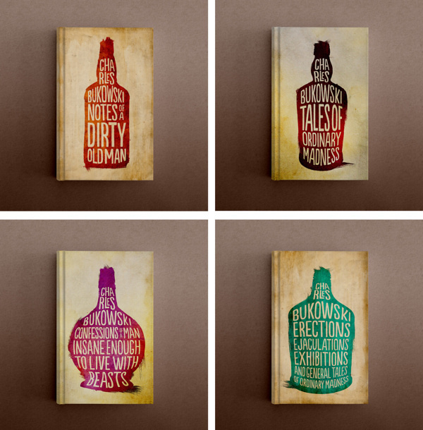 Charles Bukowski Book Series #print #jackets #book #dust #covers #illustration