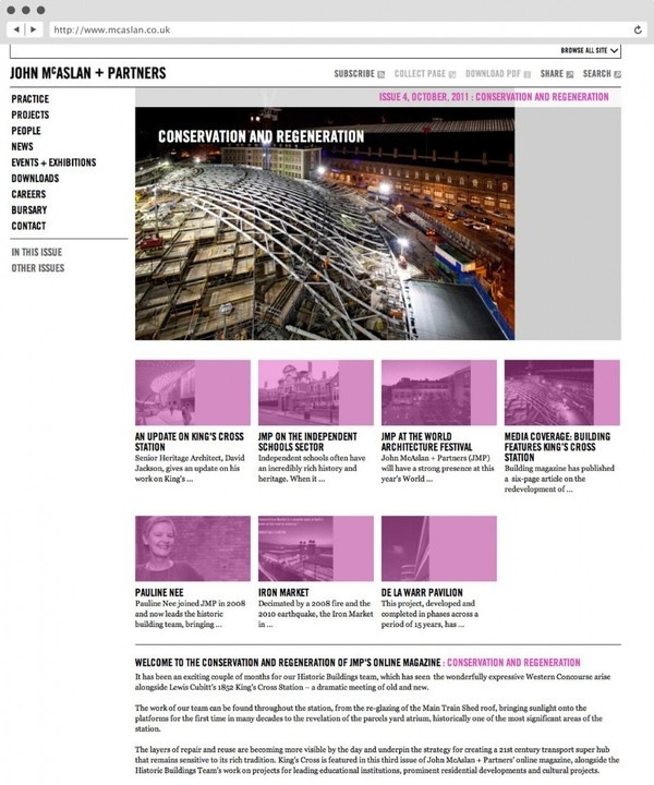 rJohn McAslan + Partners. Website. #agency #tree #in #london #design #fish #graphic #website #identity #logo #brochure