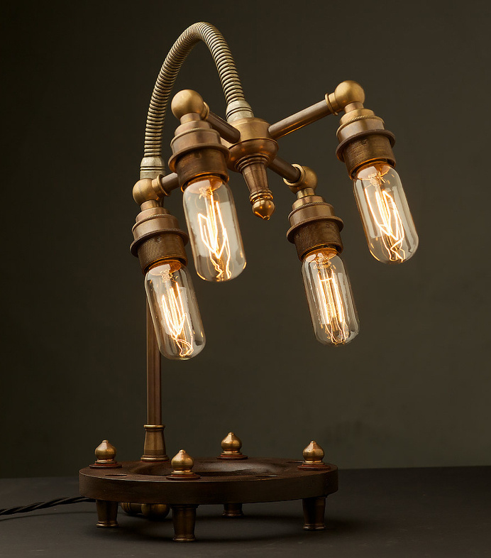 Edison Light Globes lamps #steampunk #lamps