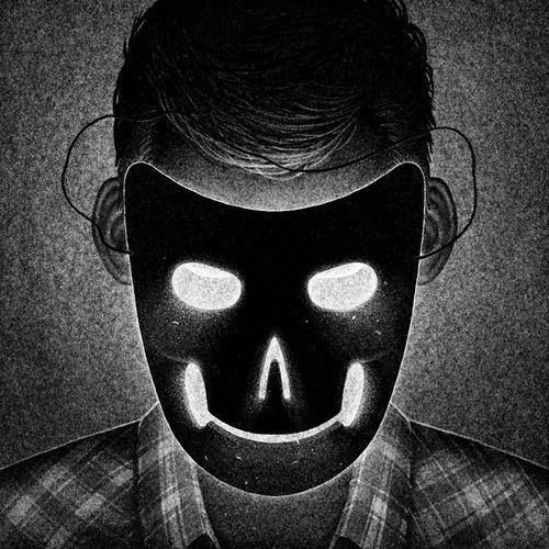 Drawlloween Day 27: Mask! #white #halloween #horror #black #illustration #mask #and #dark #scary