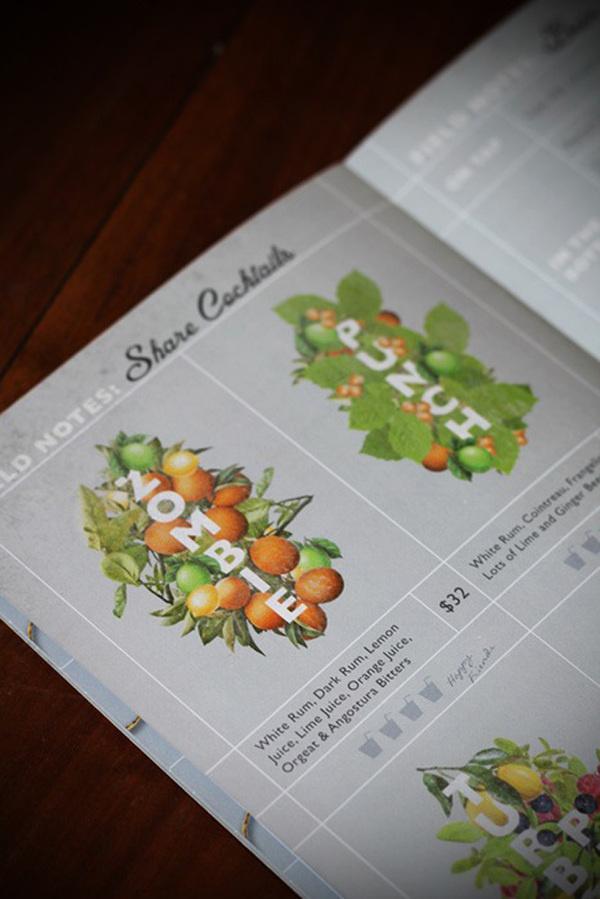 The Botanist Kirribilli #branding #alcohol #menu #restaurant #cocktail