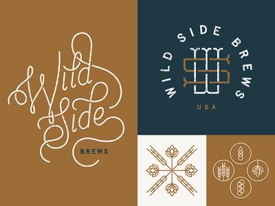 Wild Side Brews - Identity by Sean Ryan Cooley #identity #script #monogram #brew #beer