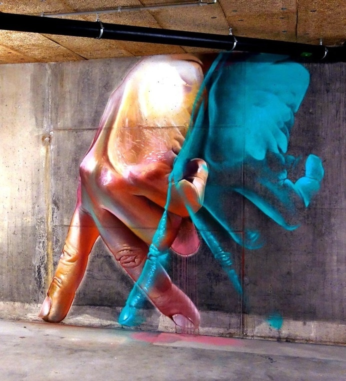 Case creates a new indoor piece in Basel, Switzerland #street art #inspiration #switzerland