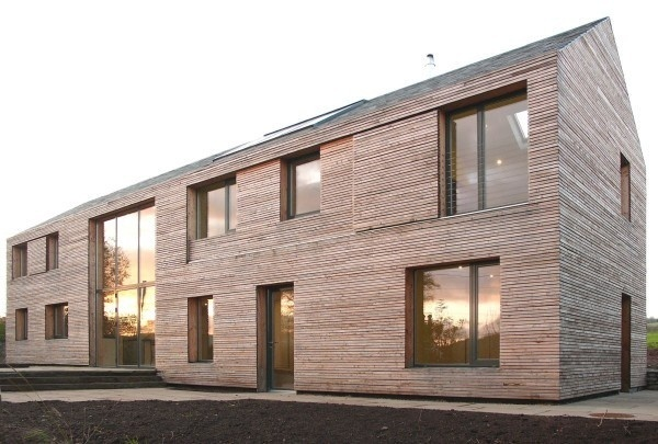 17_Feilden Fowles_Ty Pren_Solar Facade #timber #house #feilden #architecture #long #fowles