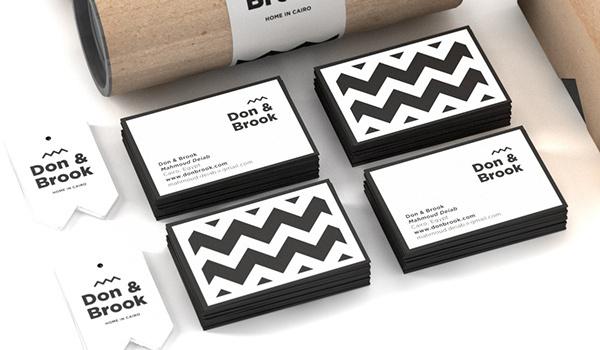 Don & Brook on Behance #card #print #bw