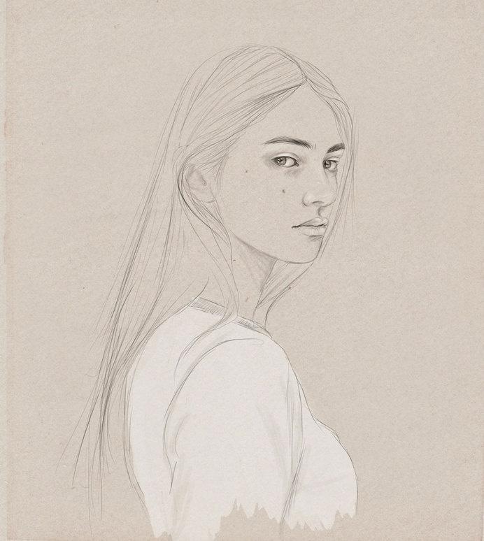 KEMI MAI | artnau #woman #girl #progress #illustration #painting #art #lady #beauty