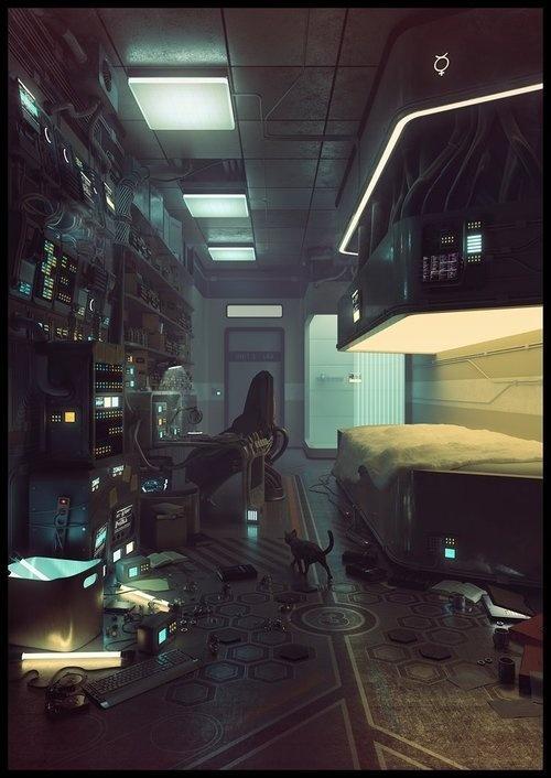 Mercury by Eimer – Tumblr #futurism #eimer #illustration #mixed #media