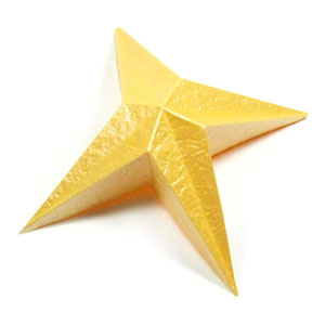 How to make a four-pointed easy embossed origami star (http://www.origami-make.org/howto-origami-star.php)