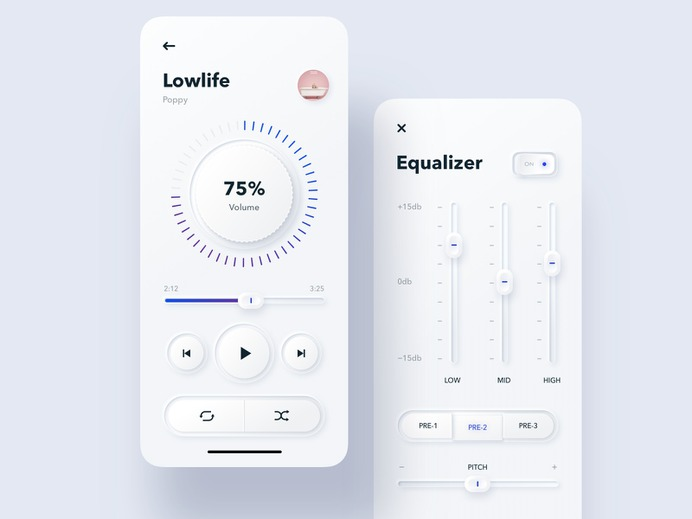SKEUOMORPHIC MUSIC PLAYER BY MAX ⚡️ OSICHKA