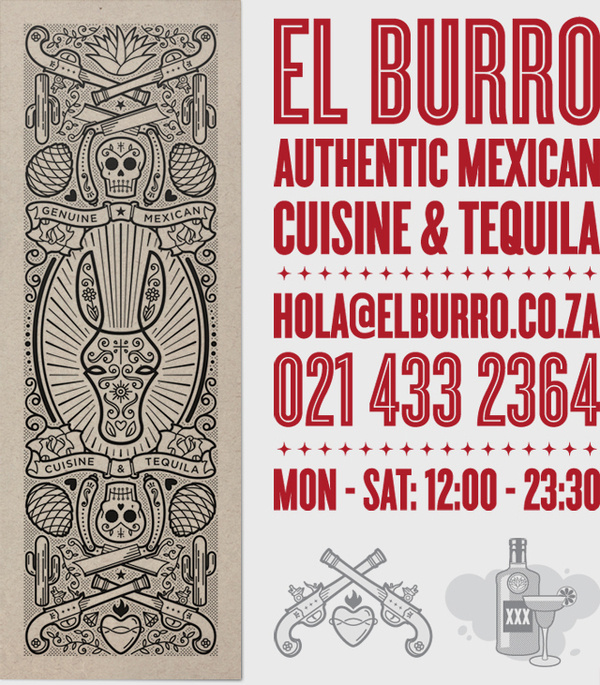 El Burro on Behance #donkey #branding #mexican #illustration #tequila