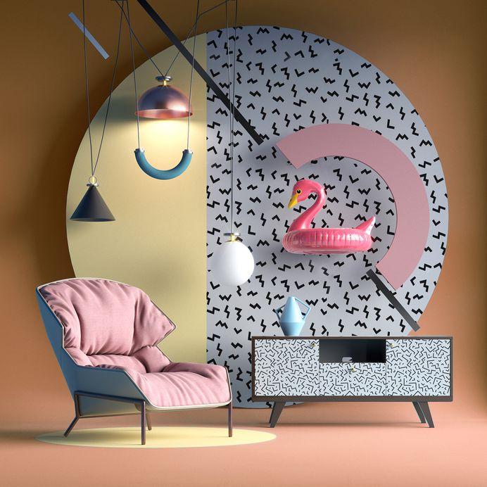 Memphis Style Furniture Nastia Ibragimova