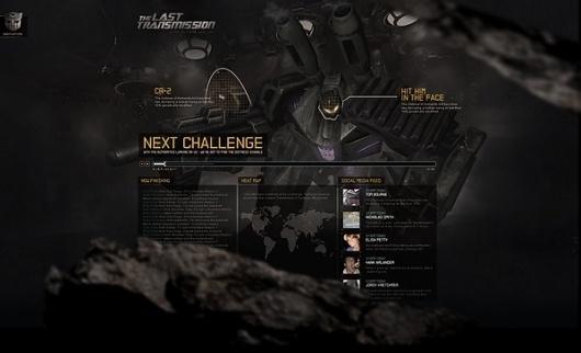 Transformers 3 on the Behance Network #interface #weblayout #web #webdesign #layout #transformers