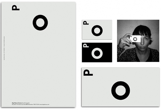 Natalia Cuadrado #olga #white #spain #business #branding #card #black #cuadrado #planas #barcelona #and #natalia #type #letterhead #typography
