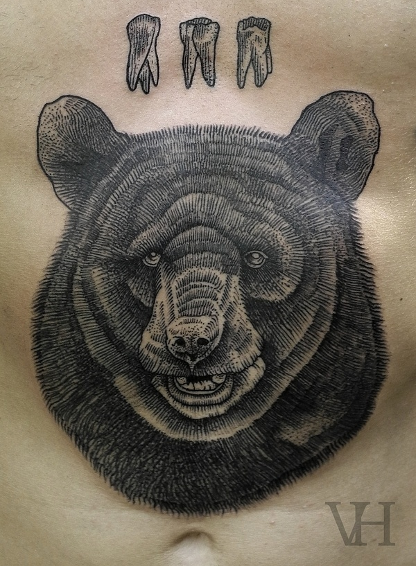 http://valentinhirsch.wordpress.com/ #teeth #bear