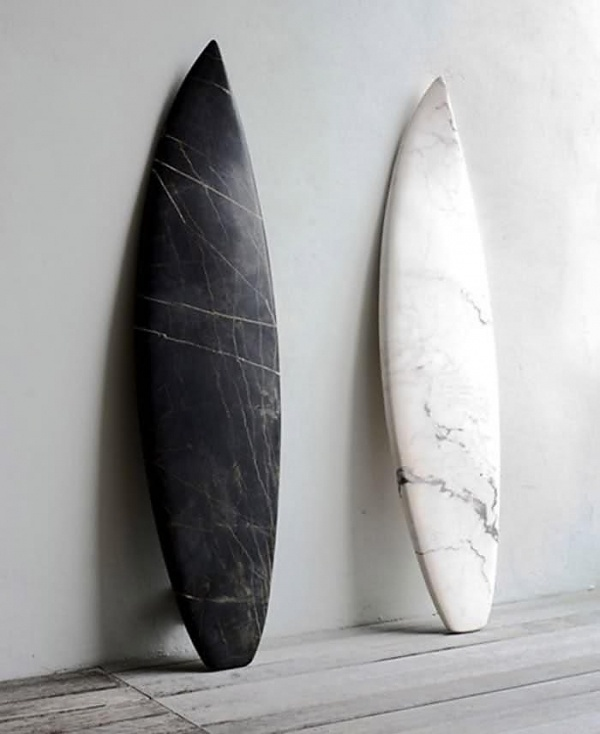 Sculpture for the Urban Surfer : Remodelista #surfboard #marble
