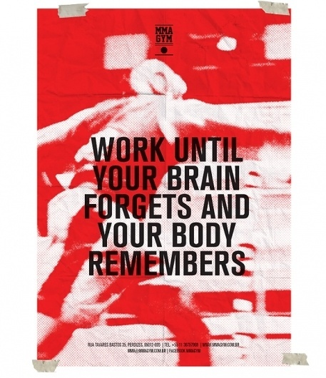 MMA GYM SÃO PAULO on the Behance Network #red #smma #empk #cartaz #gym #boxe #afiche #poster #typography