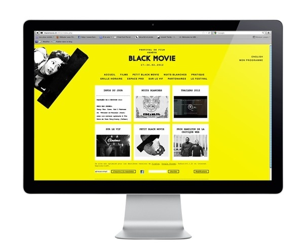 Neo Neo Graphic Design Switzerland Blackmovie #grilla #web