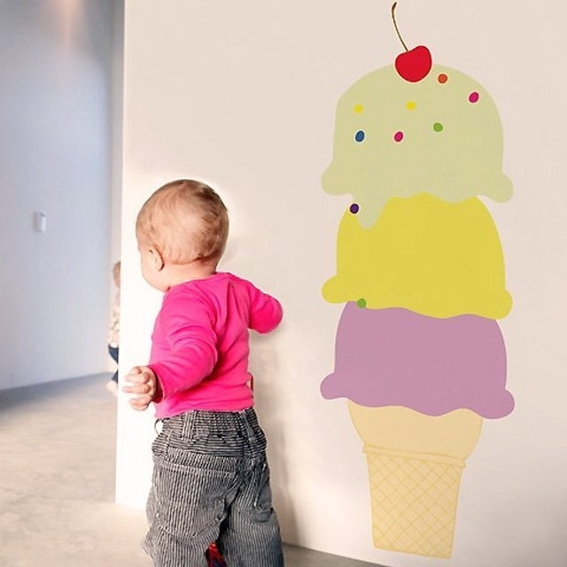 Ice Cream Cone Wall Decal #tech #flow #gadget #gift #ideas #cool