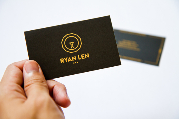 Personal Business Card 2013 #vector #visual #hotstamp #business #matte #card #lion #2013 #namecard #lasalle #identity #name #gold #personal #logo #singapore