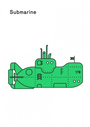 Print-Process / Product / Submarine #illustration #boat #poster