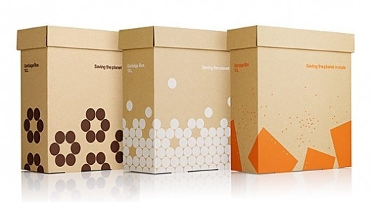 Askul Garbage Box : Lovely Package® . Curating the very best packaging design. #recycle #packaging #lab #design #minimal #stockholm #helvetica