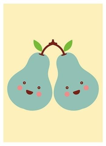 FFFFOUND! | Twin Pears | Flickr - Photo Sharing! #illustration