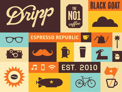 Dripp Coffee Bar #coffee #layouts #color #dripp