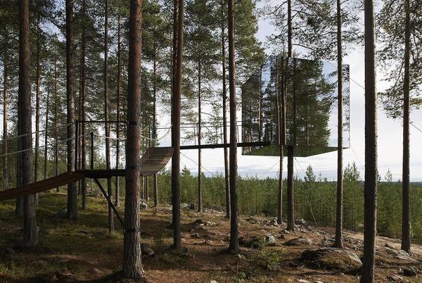 CJWHO ™ (Tree Hotel, Harads, Sweden by Tham & Videgård...) #sweden #design #wood #mirror #architecture #hotel #clever