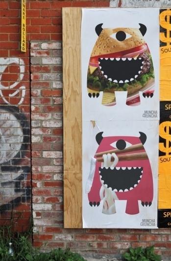 Lucas Melbourne - Brand Strategy and Design - MunchaCruncha #illustration #monster #logo #fun #brandmark