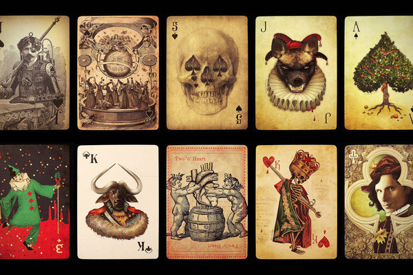 Ultimate Deck #creepy #suits #macabre #design #gamble #illustration #medieval #vintage #play #game #cards