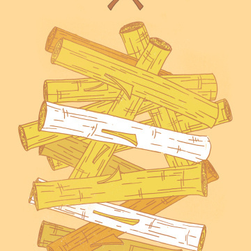 Timber! #print #wood #illustration #poster #axe #drawing #trees #logs