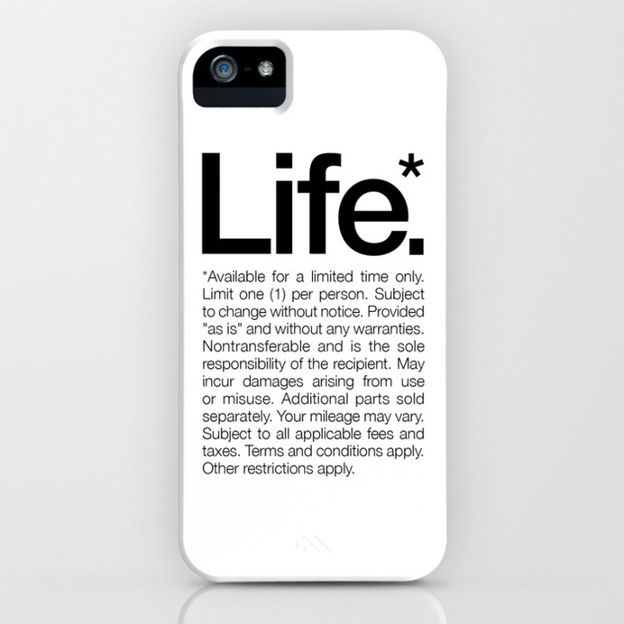 Life.* Available for a limited time only. (White) iPhone & iPod Case #inspiration #phone #case #life #typography