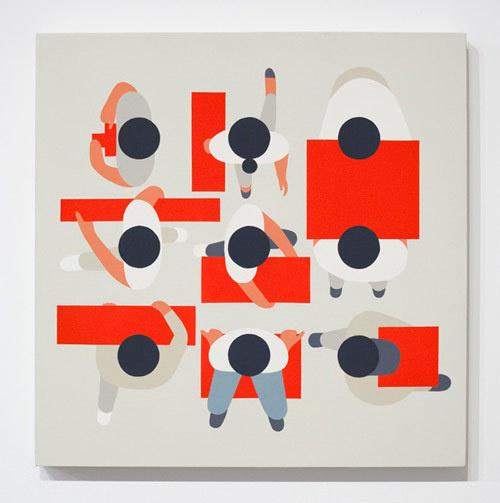 Artist designer Geoff McFetridge #illustration #top #down