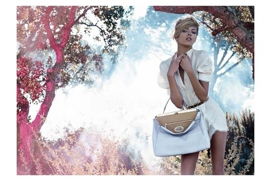 Fendi Spring 2010 Campaign | Anja Rubik by Karl Lagerfeld #fashion #photography #direction #art
