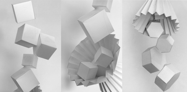 Being (+ Moving Image) Alice Critchley #design #shapes #alicecritchley #art #paper #3d