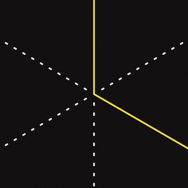 L #geometry #lines #abstraction #yellow #illustration #type #typography