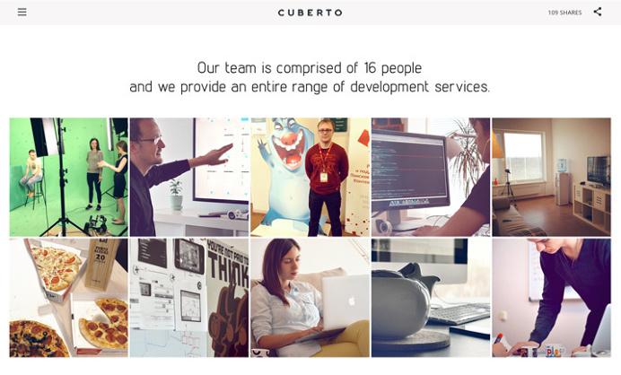 Cuberto website